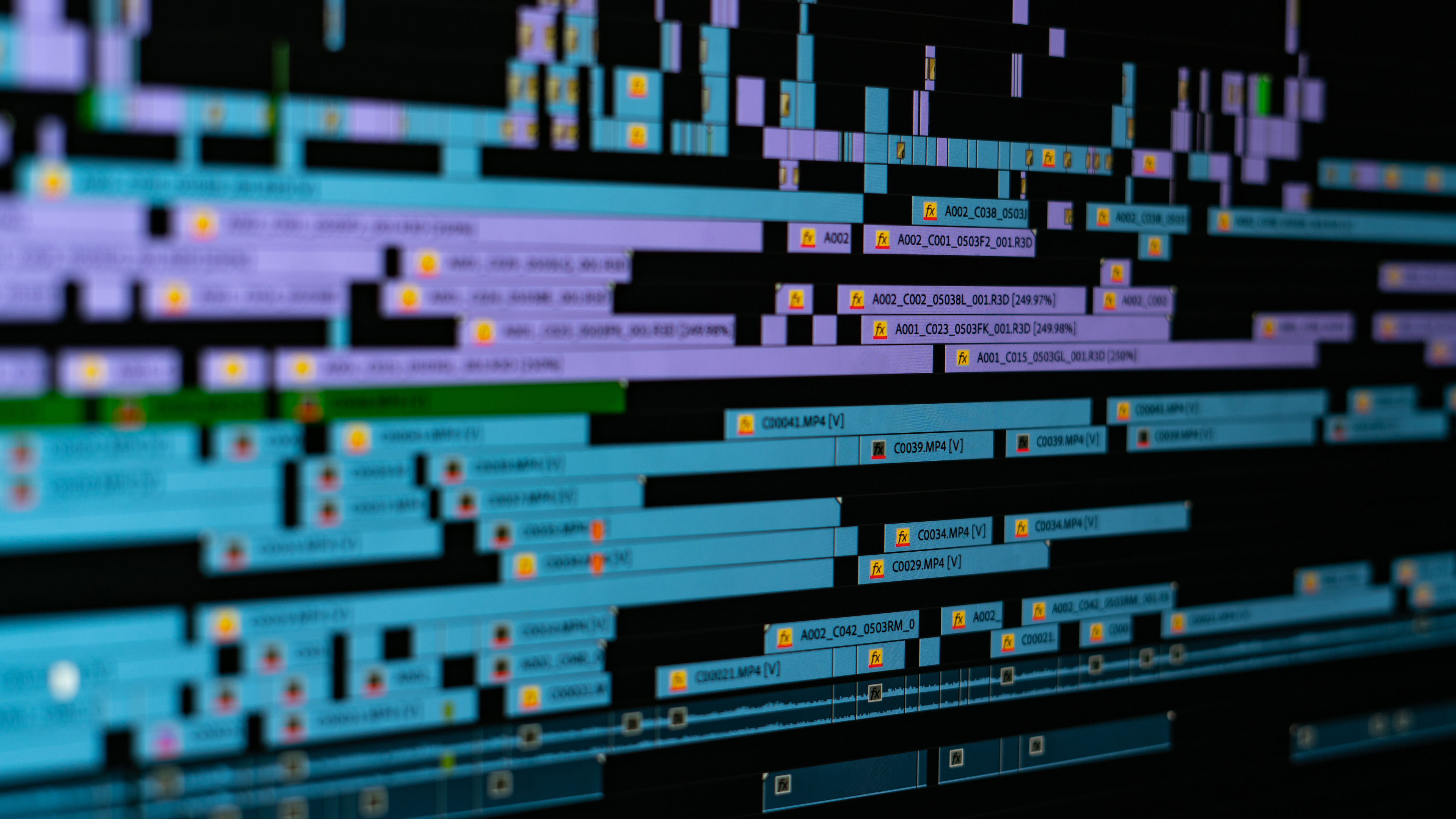 Photo of a Monitor displaying After Effects Timeline