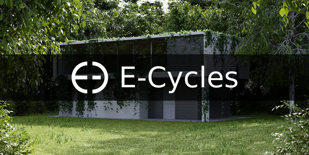 archviz rendering with e-cycles logo